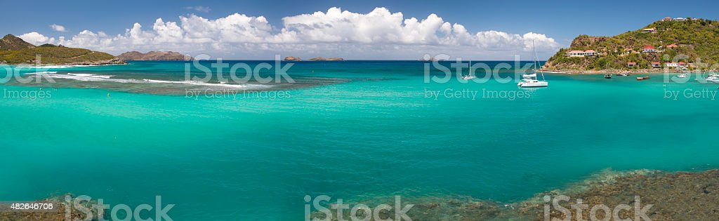St Barth Beach, Caribbean sea stock photo