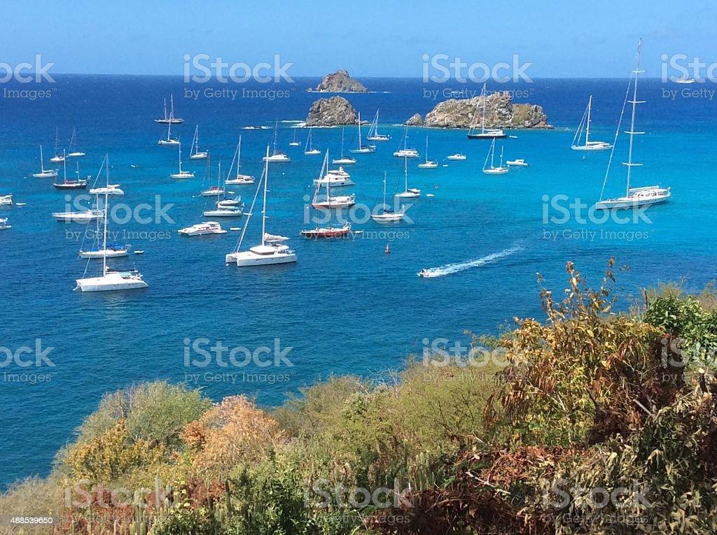 St. Barth Island, Caribbean sea stock photo