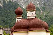 St. Bartholomew church in Bavarian Alps.