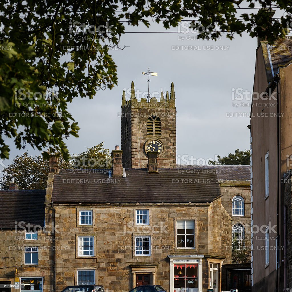 St Bartholomew Church, Longnor, Peak District. stock photo