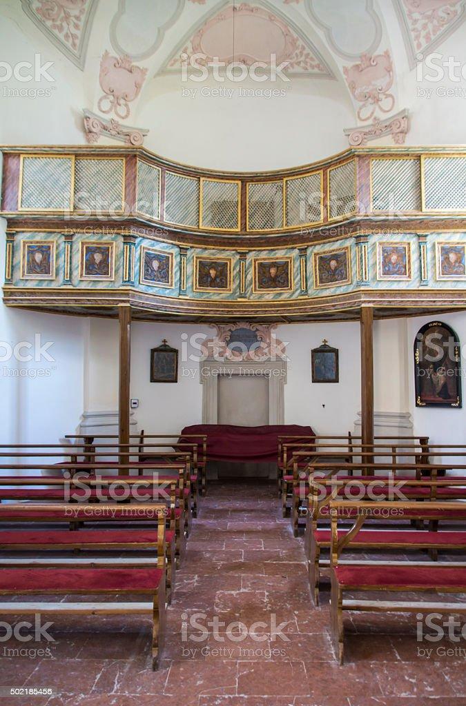 St. Bartholomew's church at Koenigssee lake near Berchtesgaden, Germany, 2015 stock photo