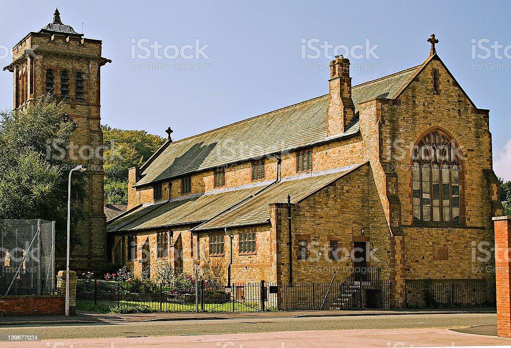 St Bartholomew's church. stock photo