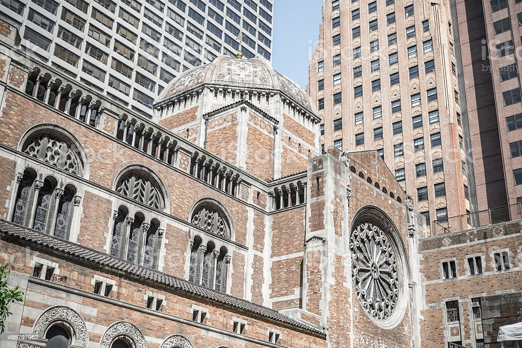 St. Bartholomew's Episcopal church in New York stock photo