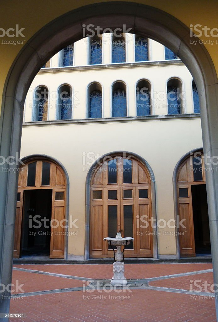 St. Bartolomeo church, Prato, Tuscany, Italy stock photo