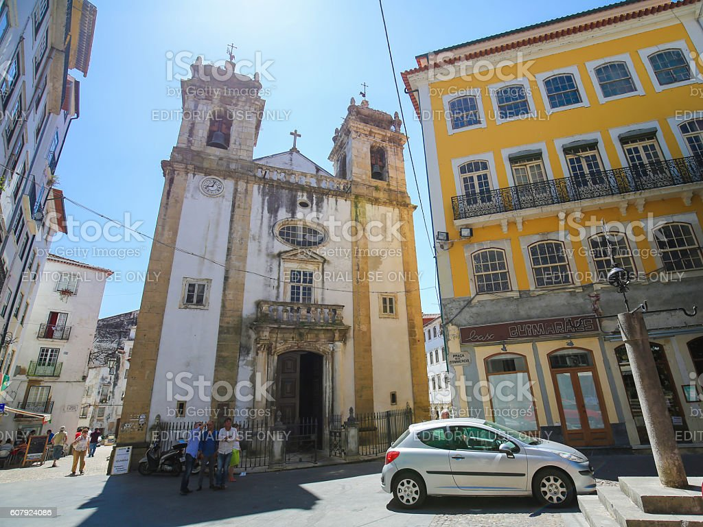 St Bartolommeo Church in Coimbra, Portugal stock photo