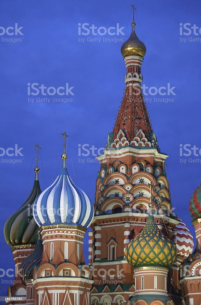 St. Basil Cathedral by night royalty-free stock photo