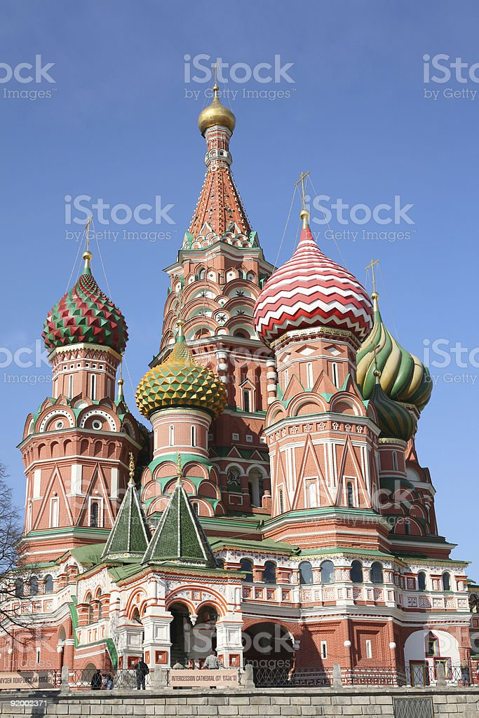 st. basil cathedral moscow royalty-free stock photo