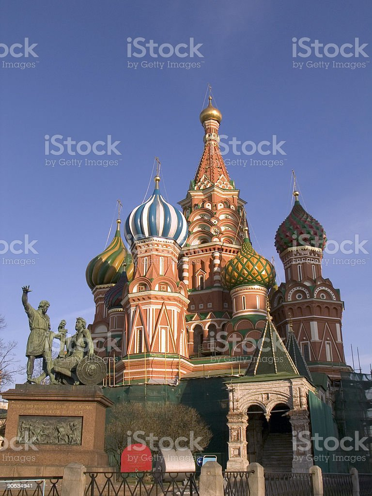St Basil Chapell in Moscow, Russia royalty-free stock photo