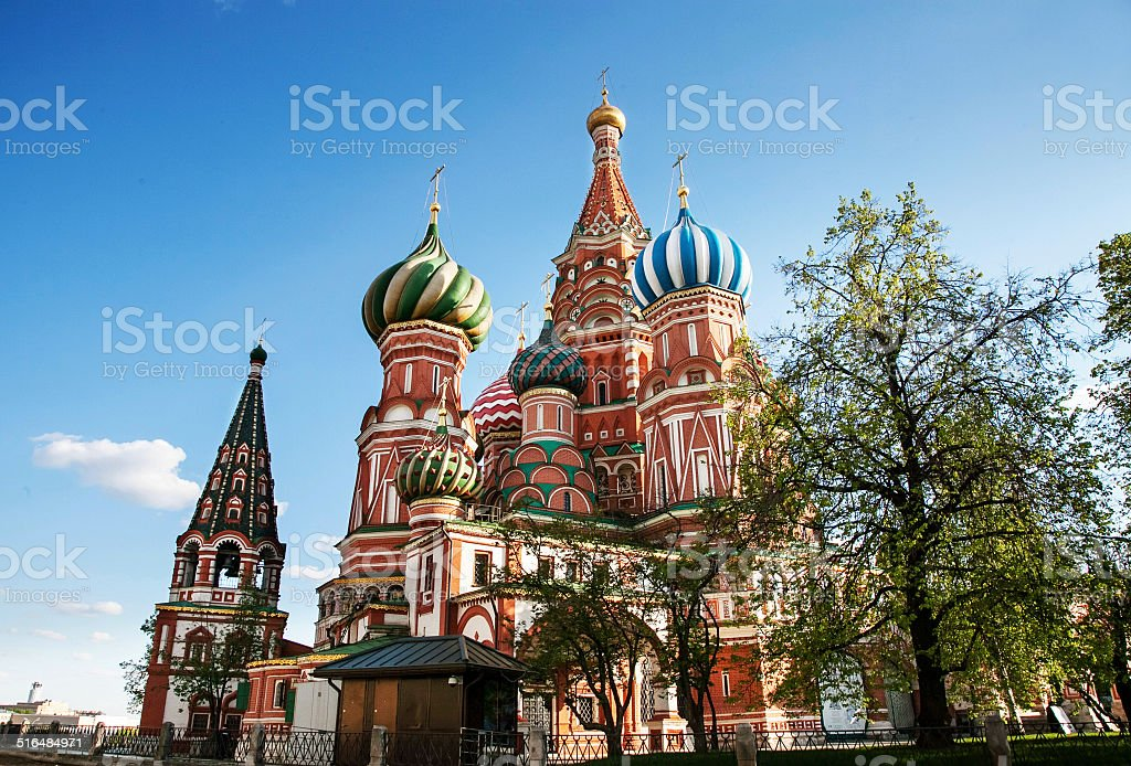 st. basil moscow stock photo