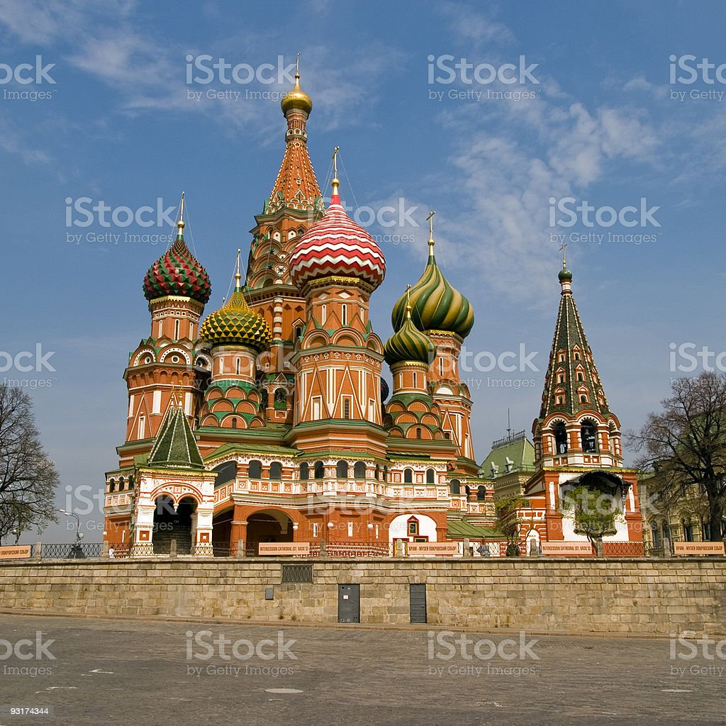 St Basils Cathederal, Moscow stock photo