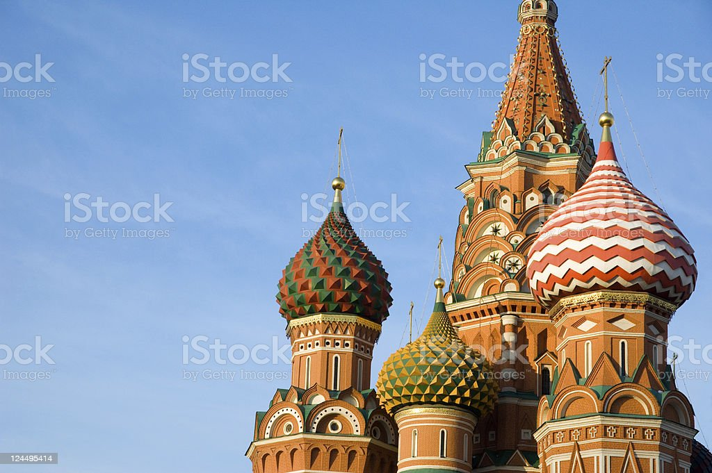 St Basil's Cathedral 16 century Red Square Moscow Russia stock photo