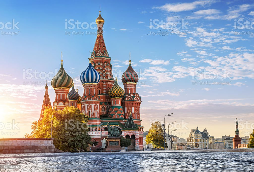 St. Basil's Cathedral, and nobody around stock photo