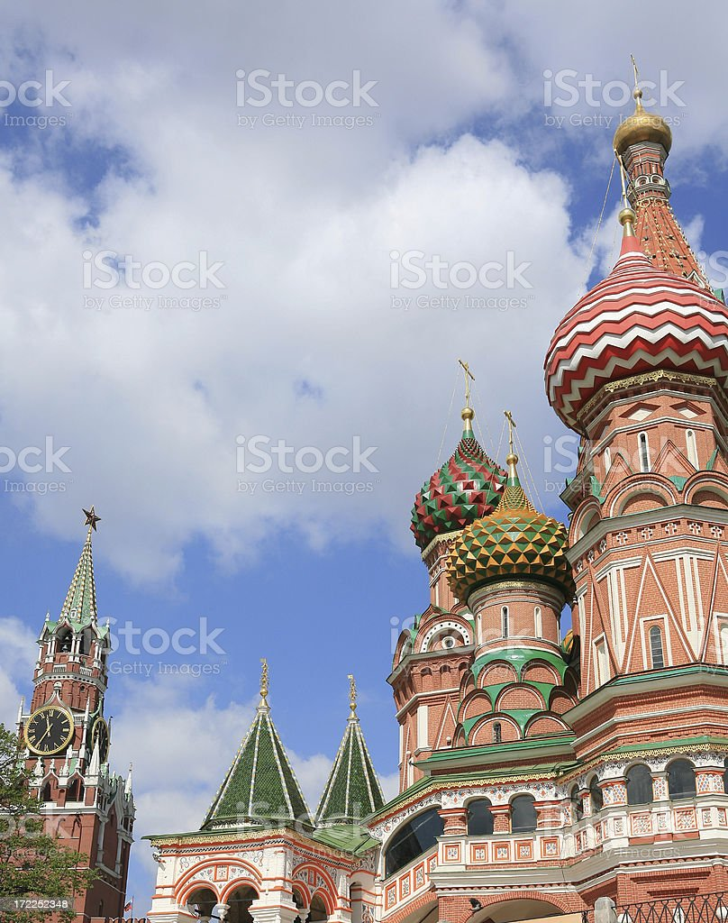 St Basil's Cathedral in Moscow - Russia stock photo