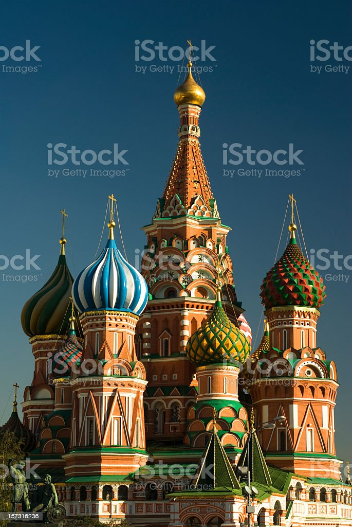St Basils Cathedral in Red Square, Moscow stock photo