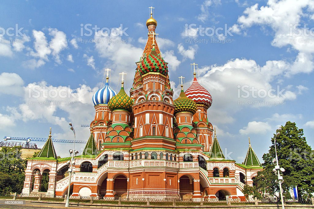 St. Basil's Cathedral, in Red Square, Moscow, Russia stock photo