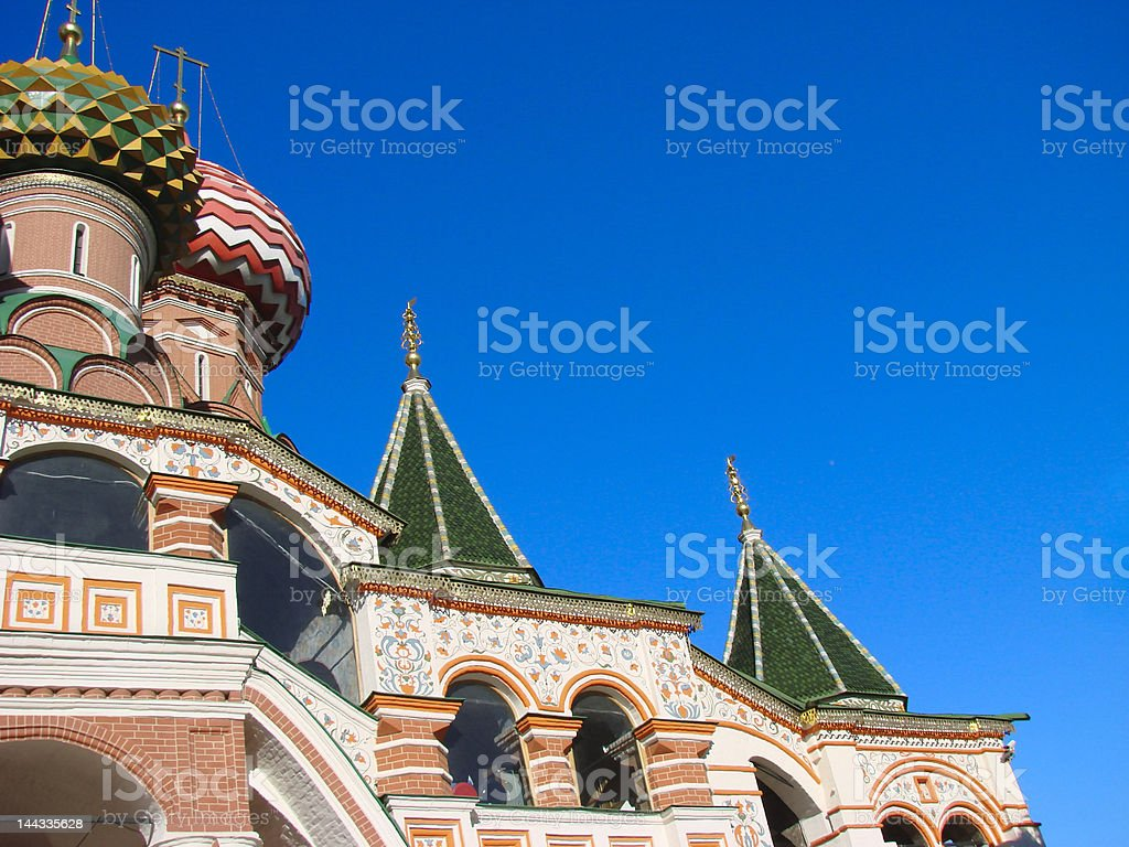 St. Basil's cathedral in Red square royalty-free stock photo