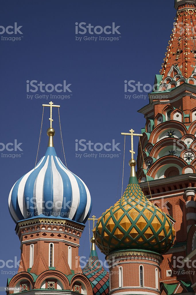 St. Basil's Cathedral Moscow stock photo
