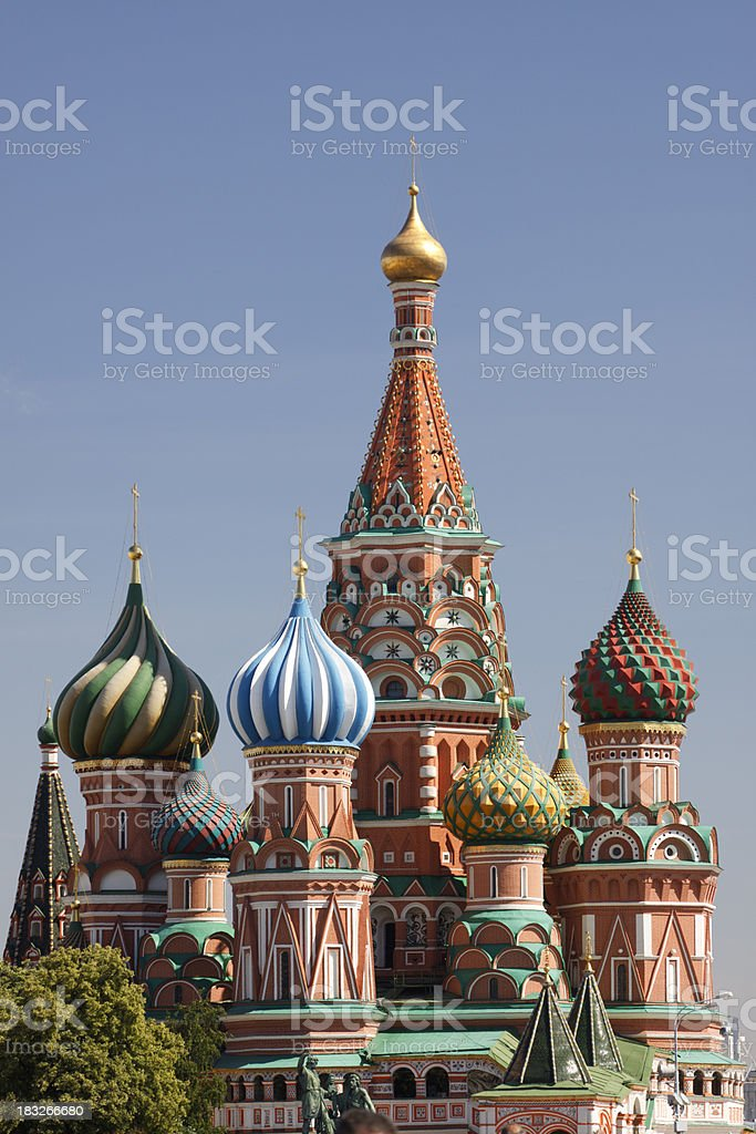 St. Basil's Cathedral Moscow royalty-free stock photo