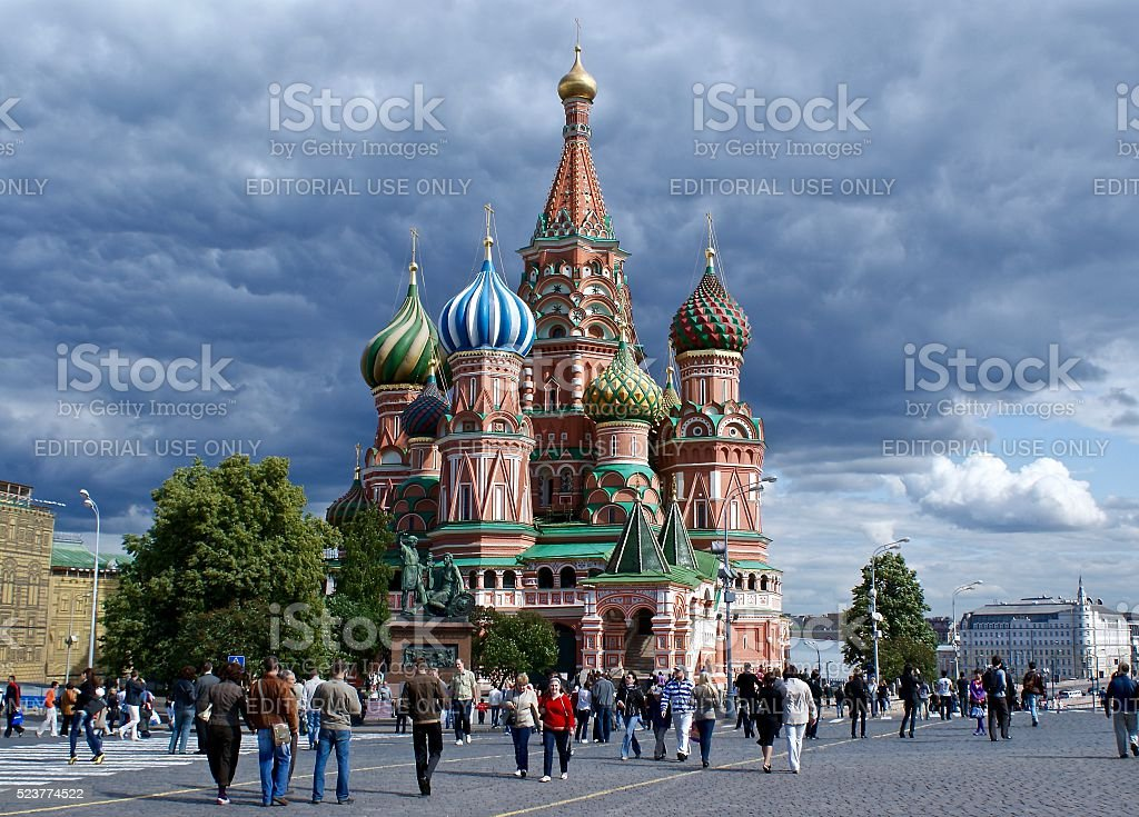 St Basil's Cathedral, Moscow, Russia stock photo