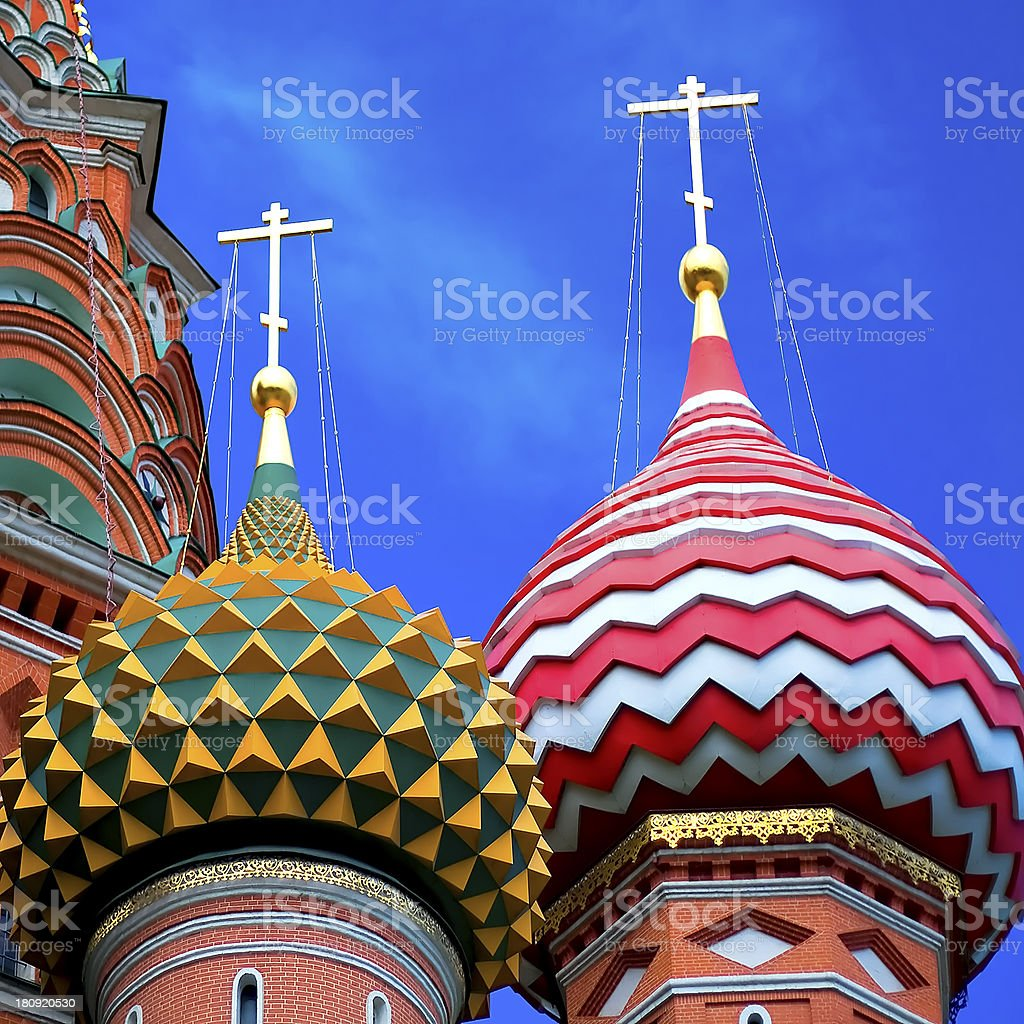 St Basils cathedral on Red Square in Moscow royalty-free stock photo