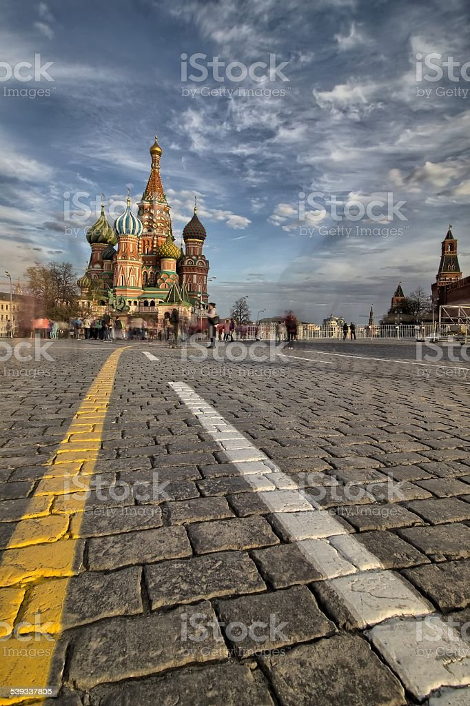 St. Basils Cathedral on Red Square in Moscow, Russia stock photo