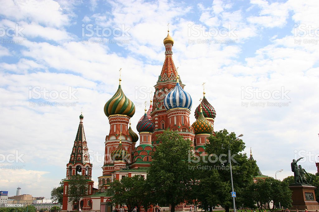St. Basil's Cathedral on the Red Square in Moscow royalty-free stock photo