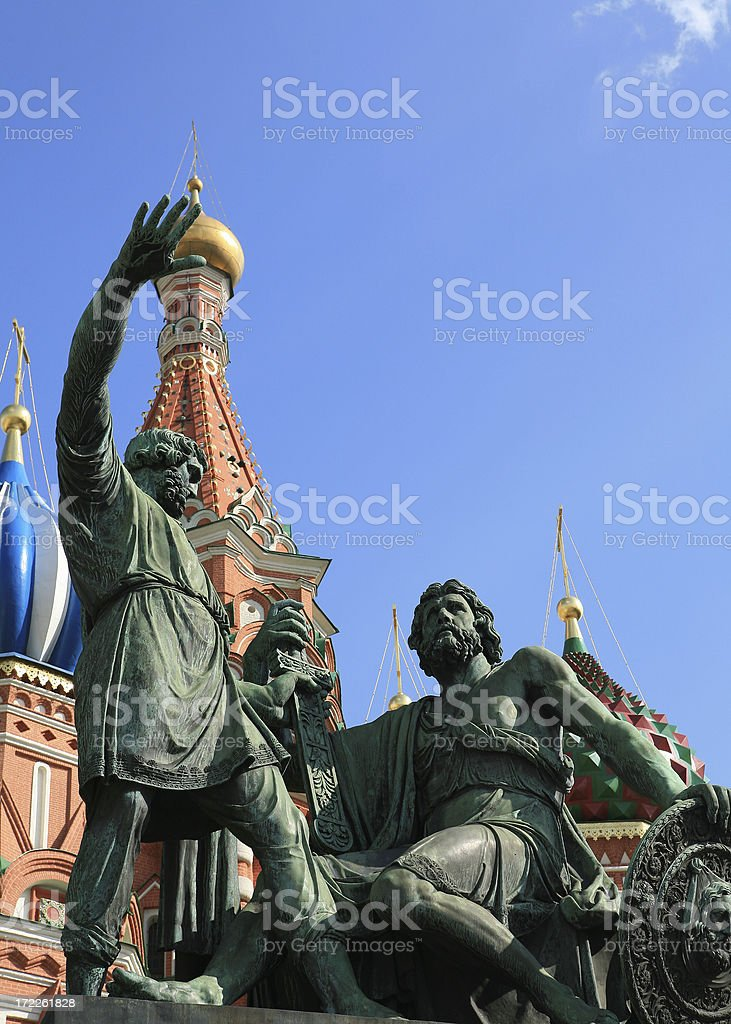 St Basil's Cathedral, or Pokrovsky in Red Square Moscow stock photo