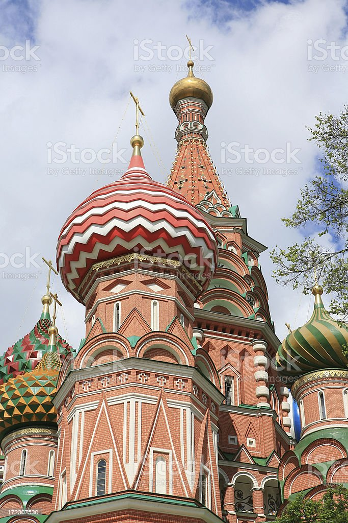 St Basil's Cathedral, or Pokrovsky Moscow Russia stock photo