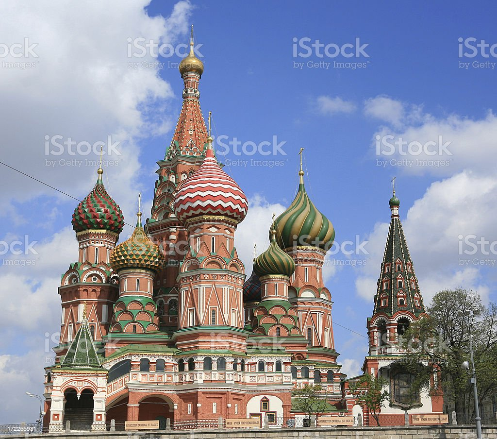 St Basil's Cathedral, or Pokrovsky Red Square Moscow stock photo