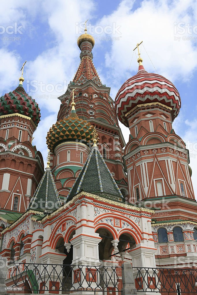 St Basil's Cathedral, or Pokrovsky,Moscow, Russia stock photo