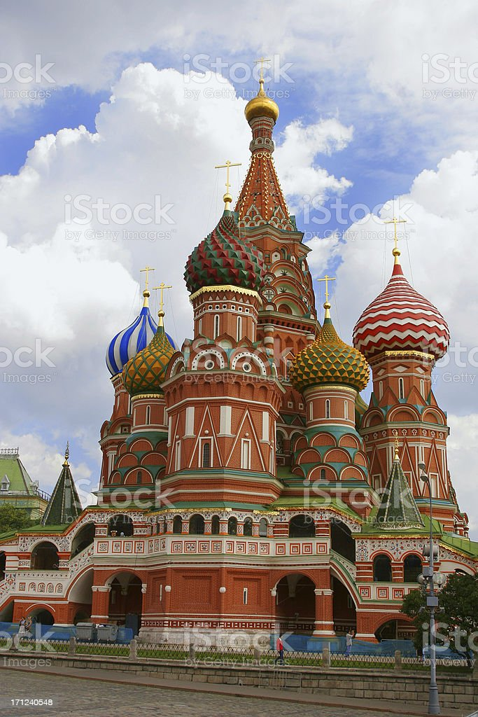 St. Basil's Cathedral royalty-free stock photo