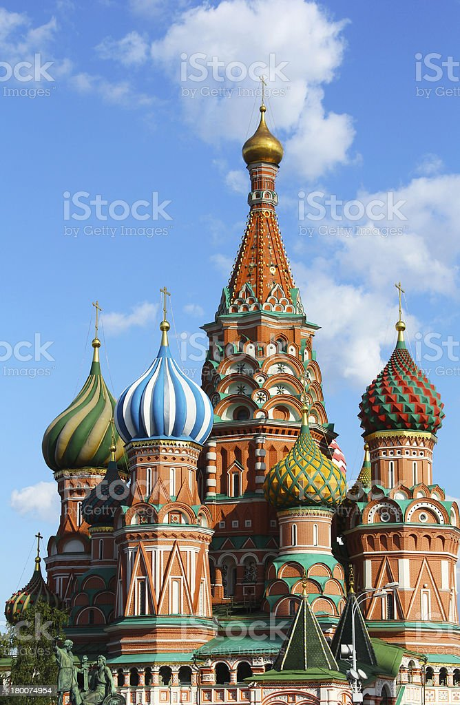 St. Basil's Cathedral, Red Square, Moscow, Russia royalty-free stock photo