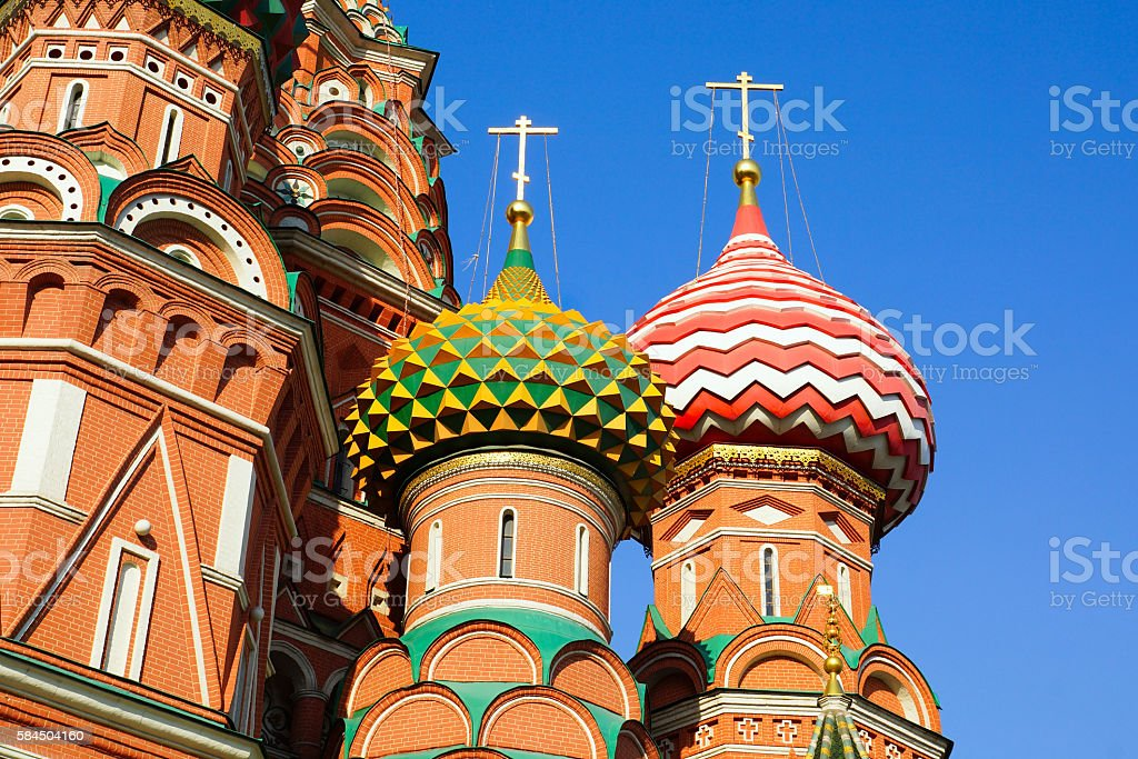 St. Basil's Cathedral.fragment.Red Square. Moscow stock photo