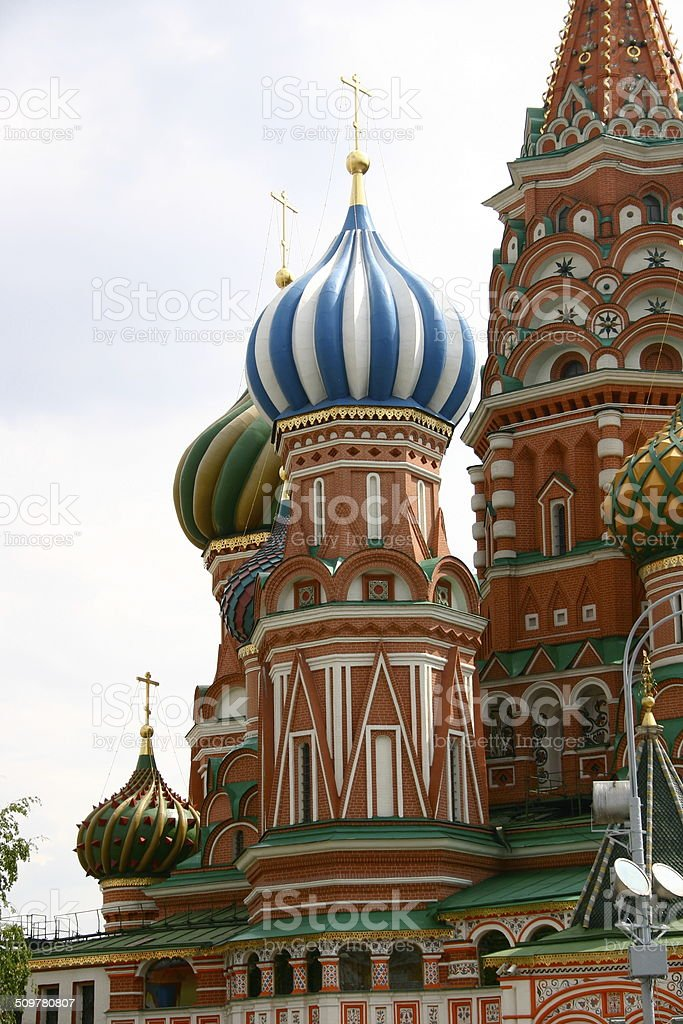 St. Basil's Onion Domes stock photo
