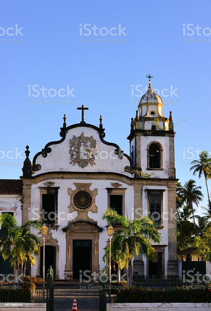 S?o Bento church, Olinda, Brazil, UNESCO world heritage site royalty-free stock photo