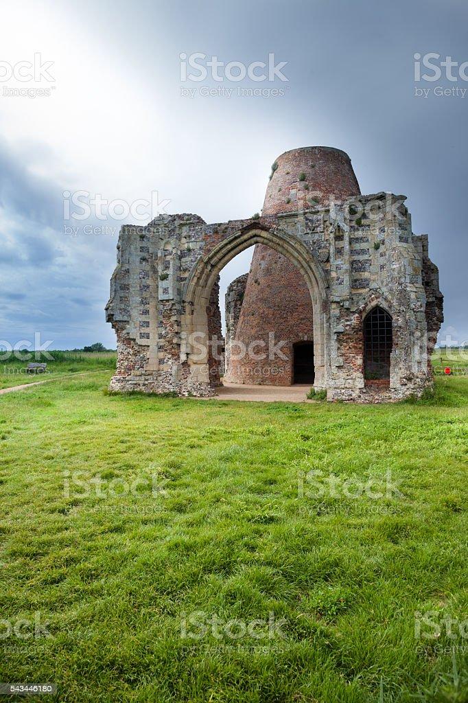 st benets abbey norfolk broads england stormy day stock photo