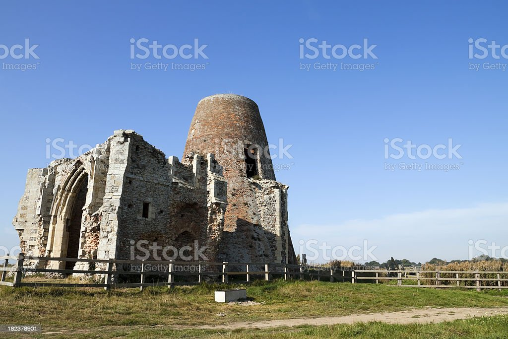 St Benet's Abbey ruins in the Norfolk Broads royalty-free stock photo