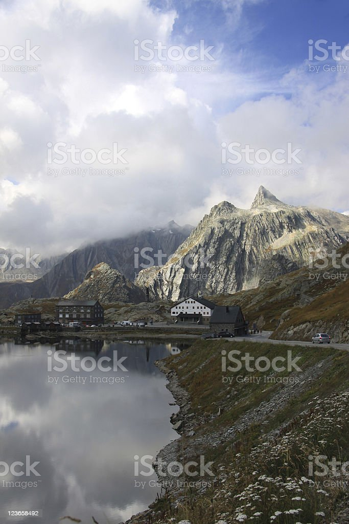 St Bernhard Mountain Pass Italy Switzerland royalty-free stock photo