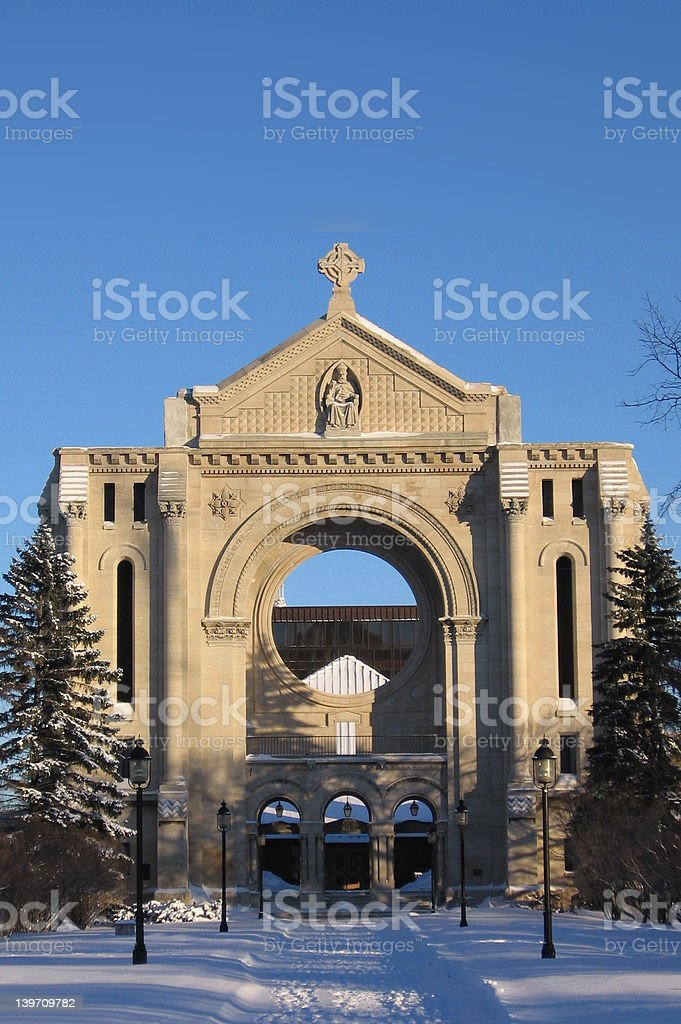 St. Boniface Cathedral royalty-free stock photo