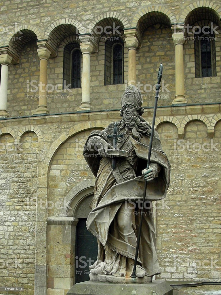 St. Boniface Statue stock photo