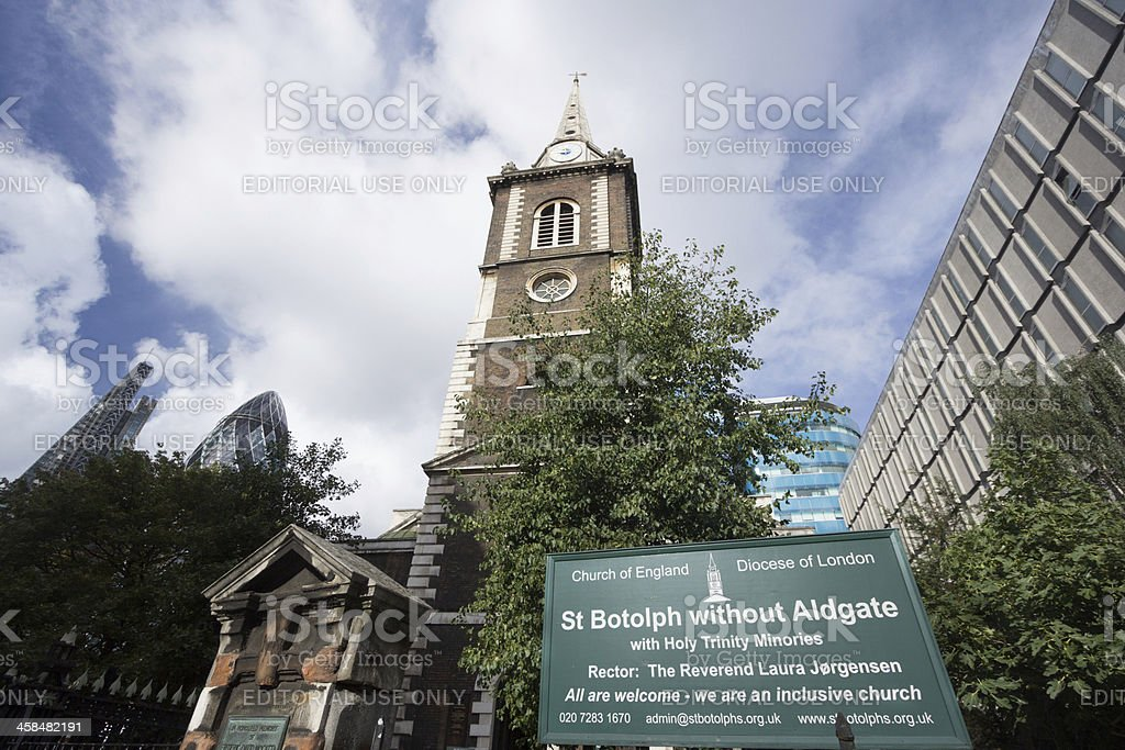 St Botolph without Aldgate in London, England royalty-free stock photo