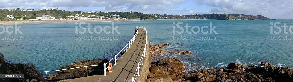 St. Brelade Bay, Jersey. stock photo