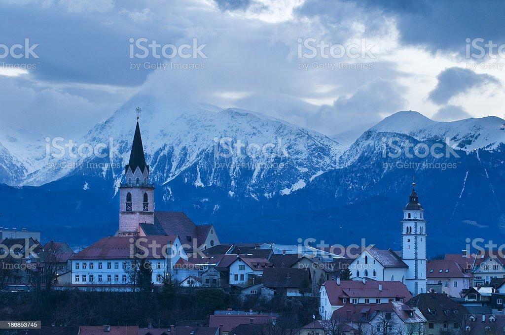 St. Cantianus Church Kranj Slovenia stock photo