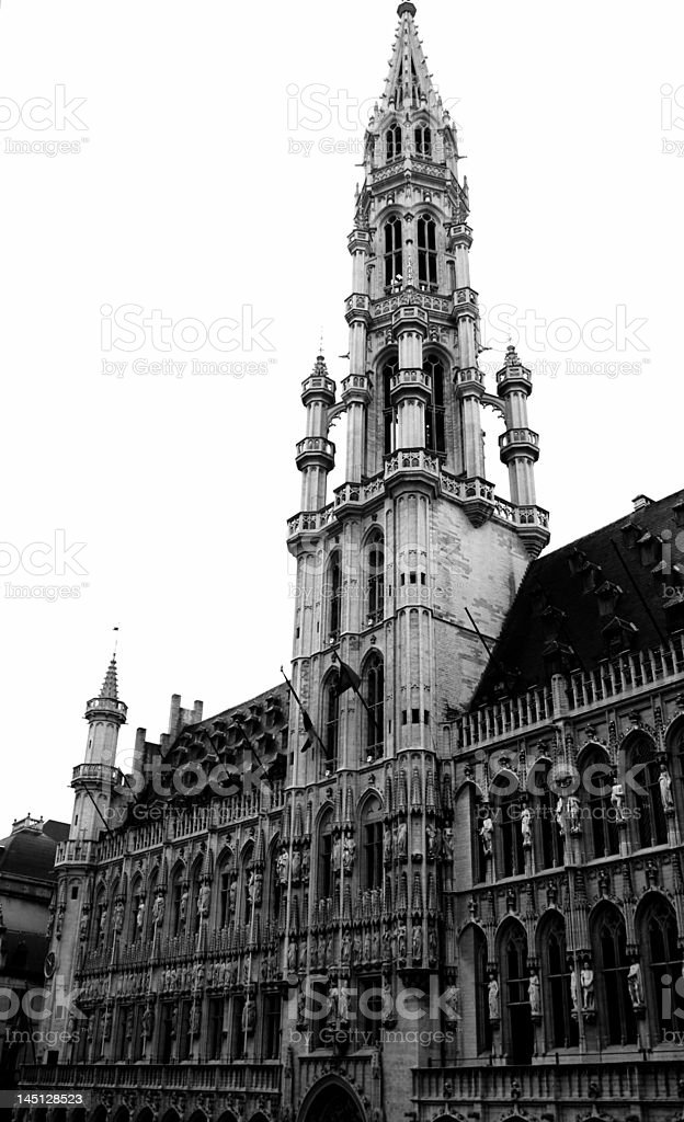 St. Catherine Church in Brussels Grand Place royalty-free stock photo