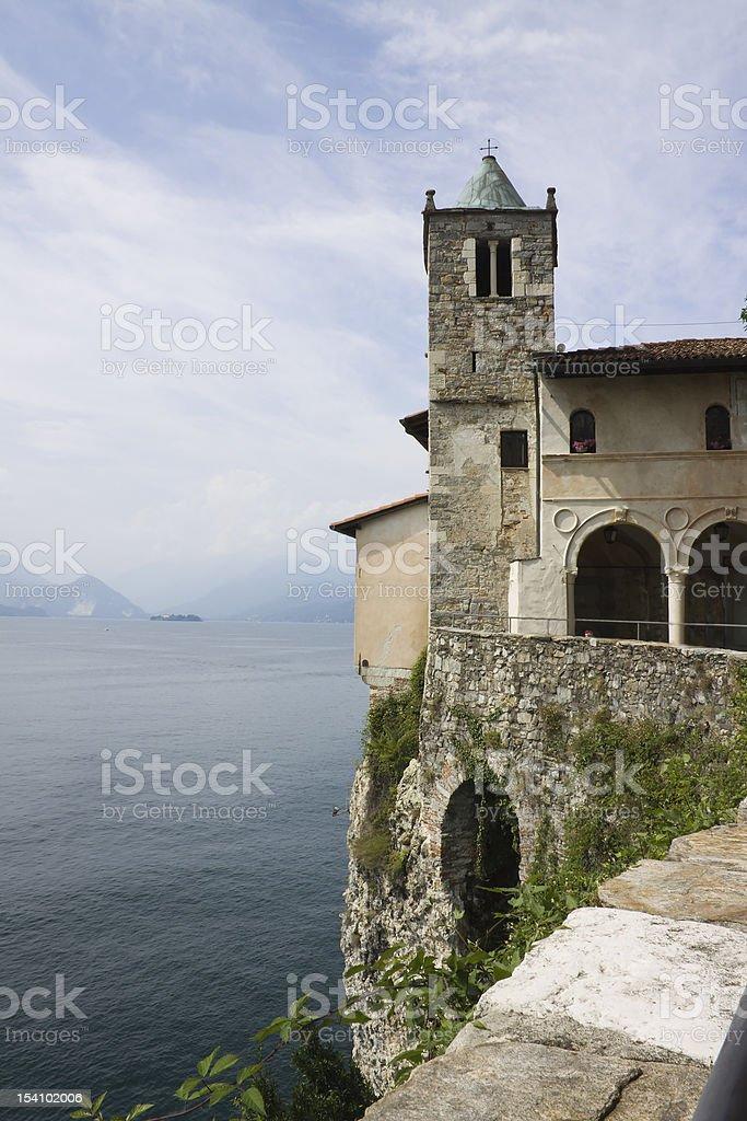 St. Catherine monastery (Eremo S.Caterina del sasso)- Va (IT) royalty-free stock photo