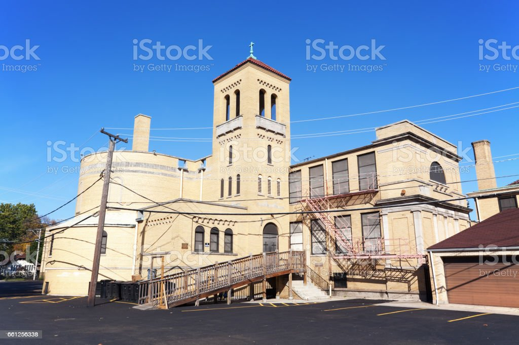 St. Catherine of Genoa Church in West Pullman, Chicago stock photo