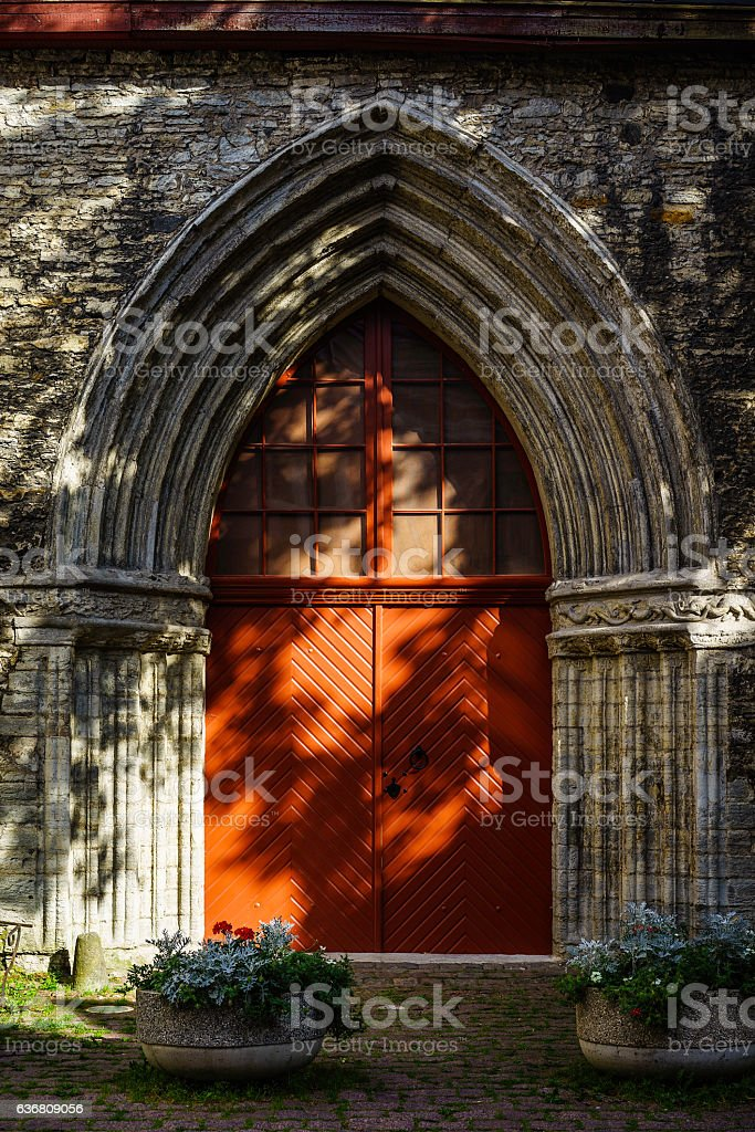 St. Catherine's Church, Old Town, Tallinn, Estonia stock photo