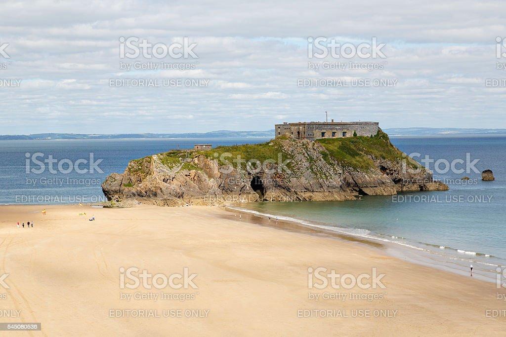 St Catherine's Island - Tenby stock photo