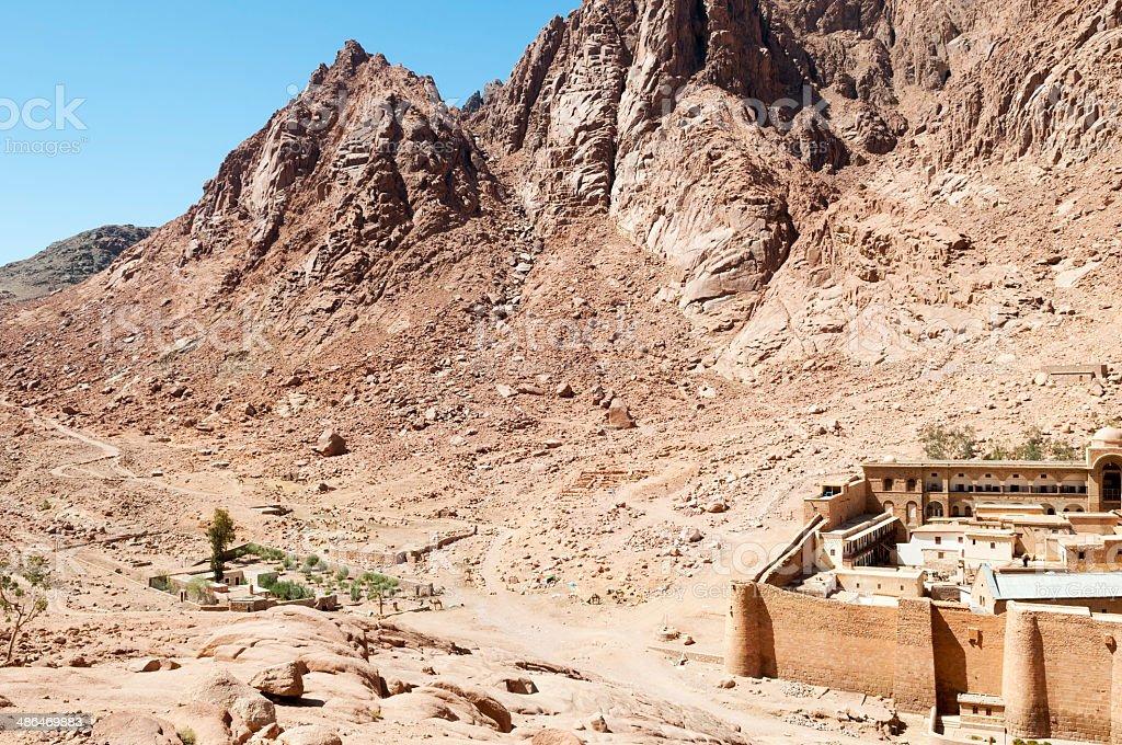St. Catherine's Monastery in Sinai, Egypt stock photo