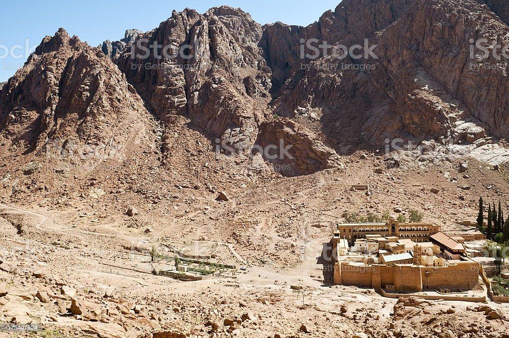 St. Catherine's Monastery near Mount Sinai royalty-free stock photo